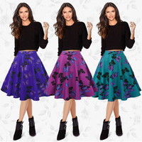 2017 Trending Fashion Retro Vintage Women Floral Printed Floral Printed Mini Skirt Dress One Piece Dress _ 12195