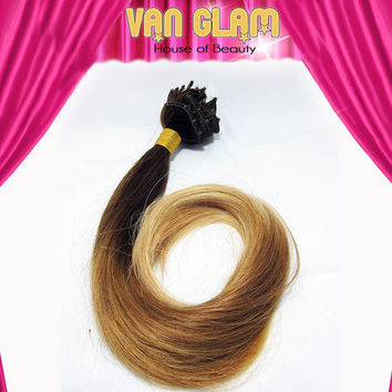 """Sexy, Medium Brown to Blonde, Tri Color Ombre, Double Drawn, 22"""", Ready To Ship, Clip In, Hair Extensions"""