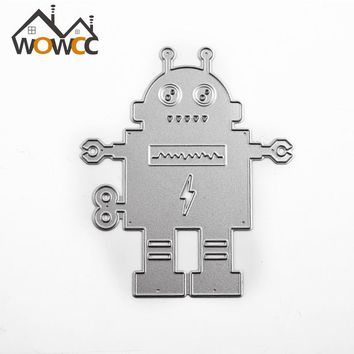 Robot B Scrapbook DIY album Card Paper Card Maker Metal Die Cut Stencil Decoration dies Craft Cutting Dies Template