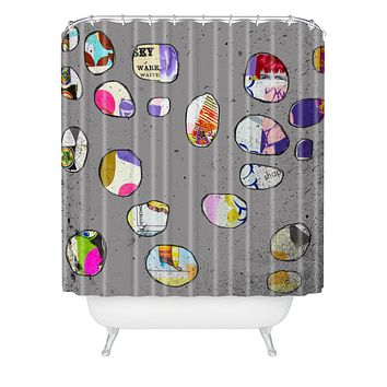 Natalie Baca Circles At Twilight Shower Curtain