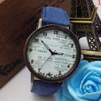 Funky, Designer Wrist Watches. Many styles and colors to choose from