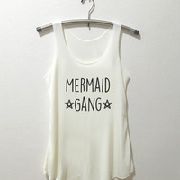 Mermaid Gang Tank Top Mermaid shirt women Mermaid shirt girls Tank Top t shirt with sayings Vintage