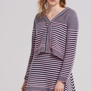 Betty Stripe Mix Cardigan Discover the latest fashion trends online at storets.com