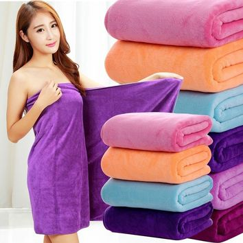 30x70cm Absorbent Microfiber Bath Beach Towel Quick Drying