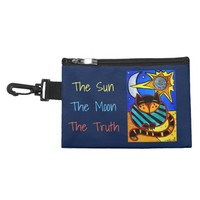 The Sun The Moon The Truth Cat with quote Accessory Bag
