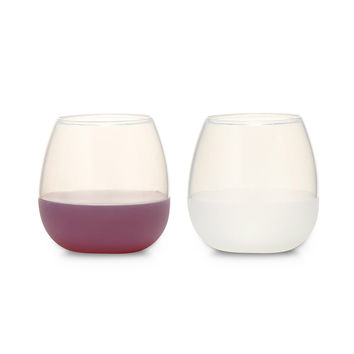 Silicone Wine Glass Set | stemless wine glasses, outdoor dining, silicone