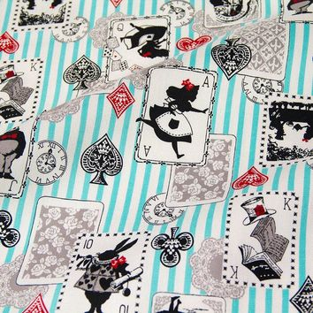 50cm*110cm Japanese Kokka Oxford Cotton Fabric Patchwork Quilting Fabric Alice in Wonderland B