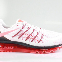 Nike Men's Air Max 2015 White Bright Crimson