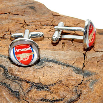Arsenal Football Club logo cufflinks, Arsenal simbol Football team, Arsenal FC earrings, Arsenal patch, Arsenal emblem Arsenal jewelry