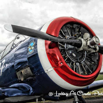 T-6 Texan aviation art photography, airplane decor, vintage flying, SNJ, pilot gift, airplane photo