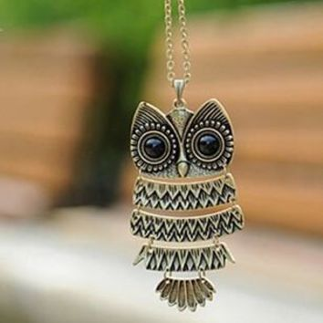 Retro Owl Necklaces (3 Designs)