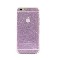 PURPLE GLITTER IPHONE CASE