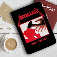 Metallica Kill Em All Leather Passport Wallet Case Cover