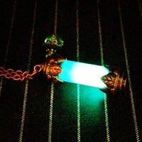 "The Mortal Instruments Inspired ""Nephilim's Lantern"" Shadow Hunter's Necklace Glows In The Dark"