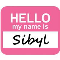 Sibyl Hello My Name Is Mouse Pad