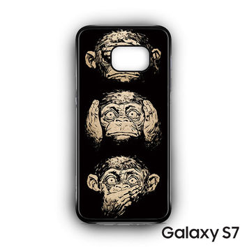 illustrations three wise monkeys wisdom for Samsung Galaxy S7 phonecases