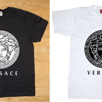 Men Women Versace Medusa t-shirt logo jordan_air_yeezus_kanye_asap_hip_hop
