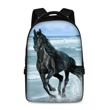Horse pattern prints Backpacks For Teens Computer Bag Fashion School Bags For Primary Schoolbags Fashion Backpack Best Book Bag