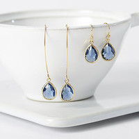 Gold Plated Montana Teardrop Earrings