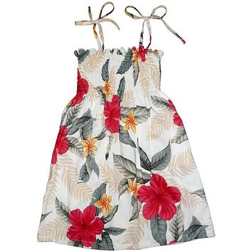 makaha cream hawaiian girl sunkiss dress
