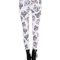 Cat Face All Over Leggings