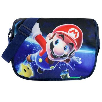 Super Mario party nes switch New Arrival: Game  Polyester Aslant School Satchel/Crossbody Shoulder Bag (Walking in Space) AT_80_8