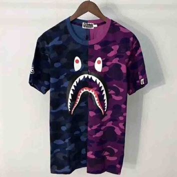Bape Trending Fashion Casual Camouflage Print Logo Short Sleeve T-shirt G-ALG-CPFS-5