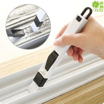 1Pcs Window slot Groove cleaning brush With dustpan Crevice brush Wash screens cleaning tools householding cleaning 8z-cx602