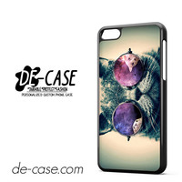 Smart Cats With Galaxy Nebula On Glass Eye For Iphone 5C Case Phone Case Gift Present