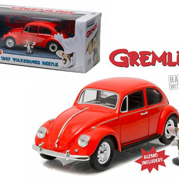 1967 Volkswagen Beetle Gremlins Movie (1984) with Gizmo Figure 1-24 Diecast Model Car  by Greenlight