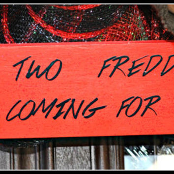 Freddy Krueger Sign, Nightmare on Elm Street, Halloween Decoration, Halloween Frame, Frame, Halloween Decor,