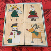 "New, Mint in Box, Christmas Rubber Stamp Set, ""Make It Christmas"" Scrapbooking, Cardmaking, Crafting, Fabric Stamping"