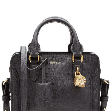 Mini Padlock Leather Shoulder Bag - Alexander McQueen | WOMEN | US STYLEBOP.COM
