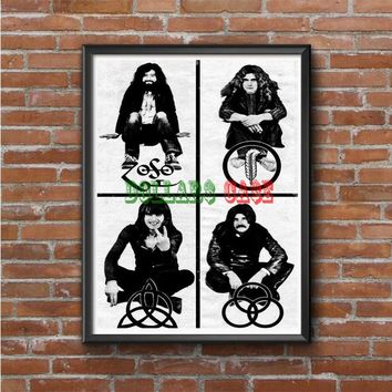 Led Zeppelin (members-with symbols) Photo Poster