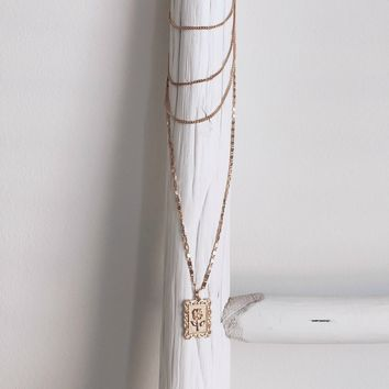 Anniversary Gold Layered Rose Necklace