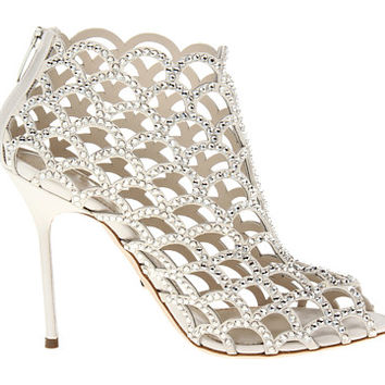 Sergio Rossi Satin Mermaid Bootie Ivory - Zappos.com Free Shipping BOTH Ways