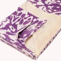 kantha Quilt, handmade quilt Kantha Throw, Cotton Blanket, Purple kantha queen , Ikat kantha quilt , Indian Bedding, bohemian quilt Kantha