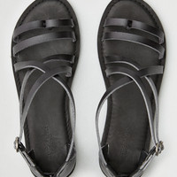 AEO Asymmetrical Thong Sandal, Black