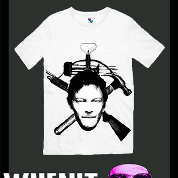 Daryl Dixon exclusive hand print men t shirt 30422