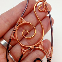 Elf Ear Tips - Copper and Brown Wire - Ear Extensions - Ear Cuffs - Bring on the Fall Colors