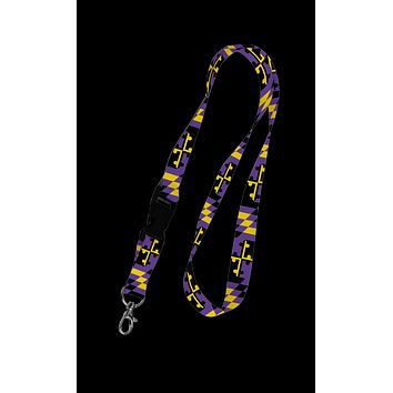 Baltimore Maryland Flag (Purple & Gold) / Lanyard