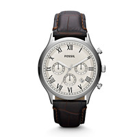 Ansel Chronograph Leather Watch - Brown