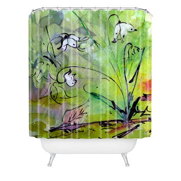 Ginette Fine Art Lily Of The Valley Shower Curtain