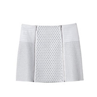Rebecca Taylor Perforated Leather Skirt