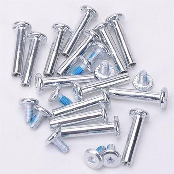 DCCKL72 Free Shipping Roller Skates Parts Axle Male And Female Screws For Child Kid Or Adult Free Skating Inline Skates 3.1cm
