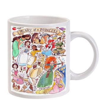Gift Mugs | All Princess Jasmine Brave Rapunzel Snow White Ariel Ceramic Coffee Mugs