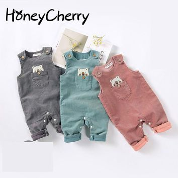 New Suspenders For 2017 Winter And Winter Baby Jumpsuit Newborn Baby Clothes Baby Girl Romper Clothes For Newborns