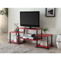 "Red, Yellow, Blue, 3-Cube Entertainment Center TV Stand Console for TVs up to 40"" Display Organizer"