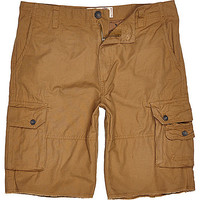 River Island MensBrown Tokyo Laundry cargo shorts