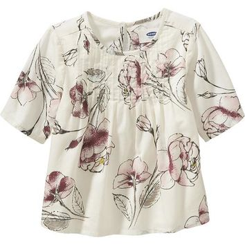 Old Navy Floral Pin Tuck Top For Baby